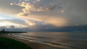 Пески Tynemouth длинные стоковые изображения rf