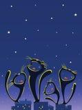 песня ночи Стоковое Изображение RF