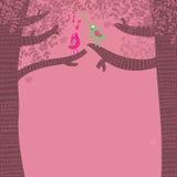 песня о любви птиц иллюстрация вектора