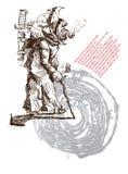 Песня пиратства (вектор) Стоковое Изображение RF