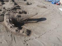 Песок аллигатора стоковая фотография rf