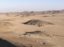 песок Африки аравийский dunes4 Египета Стоковое Изображение RF