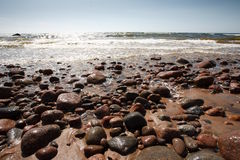 песок береговой породы Стоковое Фото