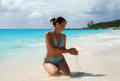 песок ванны Стоковое фото RF