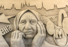 Песок ваяет выставку стоковые изображения rf