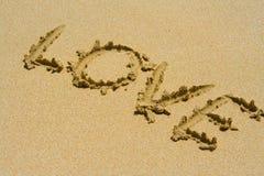 песок влюбленности Стоковые Изображения