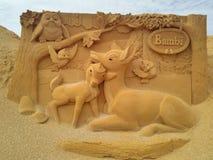 Песок волшебное Ostende Дисней - развалина стоковые фото