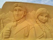 Песок волшебное Ostende Дисней - развалина Стоковое Изображение