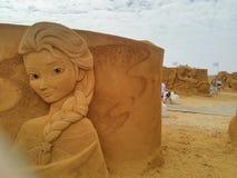 Песок волшебное Ostende Дисней - развалина Стоковая Фотография