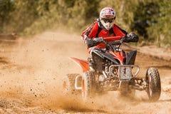 Песок всадника грязи гонки ATV Стоковые Изображения