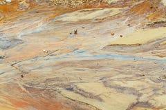 Песок глины грязи обстреливает воду после дождя Стоковое Изображение