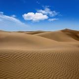 Песок дюн пустыни в Maspalomas Gran Canaria Стоковые Фотографии RF