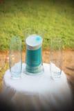 Песок единства свадьбы стоковая фотография