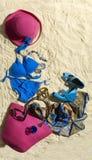 песок женщины вспомогательного оборудования Стоковые Фотографии RF