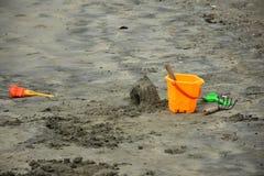 Песок замка моря стоковая фотография rf
