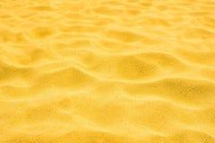 Песок золота пляжа в лете Стоковое фото RF