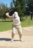 песок игрока в гольф дзота стоковые фотографии rf