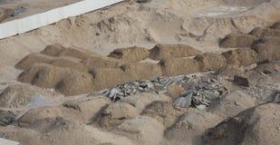 Песок или грязь для учреждения стоковое фото