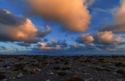 песок Исландии пляжа черный Стоковое Изображение RF