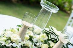 Песок и бутылка для западных свадебных церемоний Стоковая Фотография RF