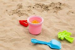 Песок и игрушки Стоковое Изображение