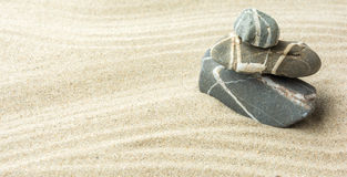 Песок и камни Стоковое Фото