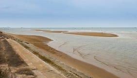 Песок и море пляжа Стоковое фото RF