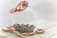 Песок и рождество моря Стоковое фото RF
