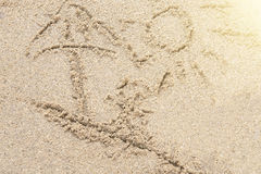 Песок и солнце Стоковое Фото