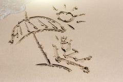 Песок и солнце Стоковые Изображения RF