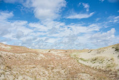 Песок и сухая трава дюн на национальном парке Curonian плюют Стоковая Фотография