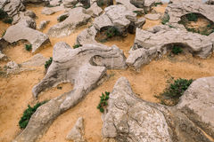 Песок и утесы Стоковое фото RF