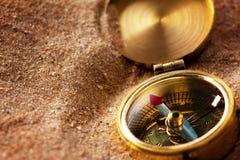 песок компаса Стоковые Изображения