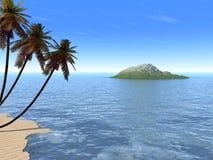 песок ладони острова Стоковое Фото