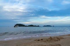 песок моря и пляж Стоковое Изображение