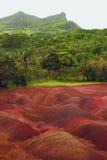 песок Мульти-цвета в Chamarel Маврикий Стоковые Изображения