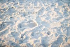 Песок на заходе солнца Стоковое Изображение