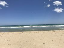 Песок на фронте пляжа Стоковые Изображения RF