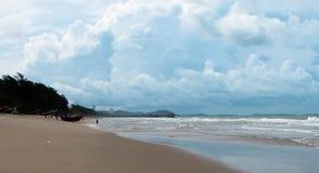 Песок, небо и море Стоковая Фотография RF