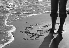 песок объявления Стоковые Изображения RF
