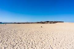 Песок острова рая в красном цвете Стоковое фото RF