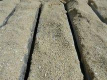 песок палубы деревянный Стоковое Изображение RF