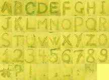 песок пляжа алфавита Стоковое Изображение RF