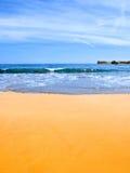 песок пляжа золотистый Стоковая Фотография