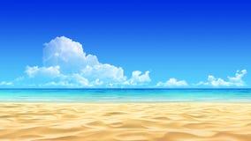 песок пляжа предпосылки идилличный тропический Стоковая Фотография RF