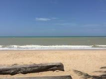 Песок, пляж, взморье, песок logon Стоковое Изображение