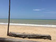 Песок, пляж, взморье, песок logon Стоковые Фотографии RF