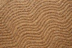 Песок предпосылки Текстура волн Стоковое фото RF