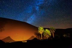 Песок пустыни Сахары Стоковая Фотография