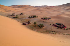 Песок пустыни Сахары Стоковая Фотография RF